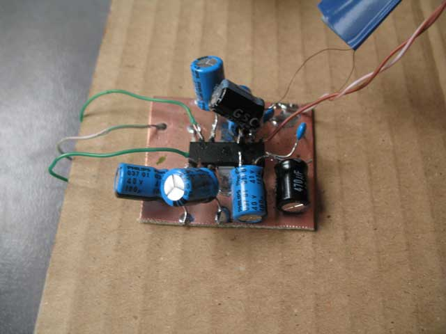 The amplifier is finished