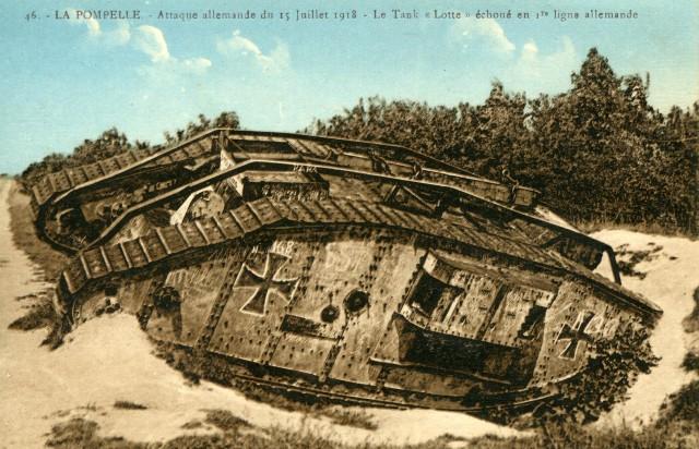 После немецкой атаки 15 июля 1918. Кликабельно.