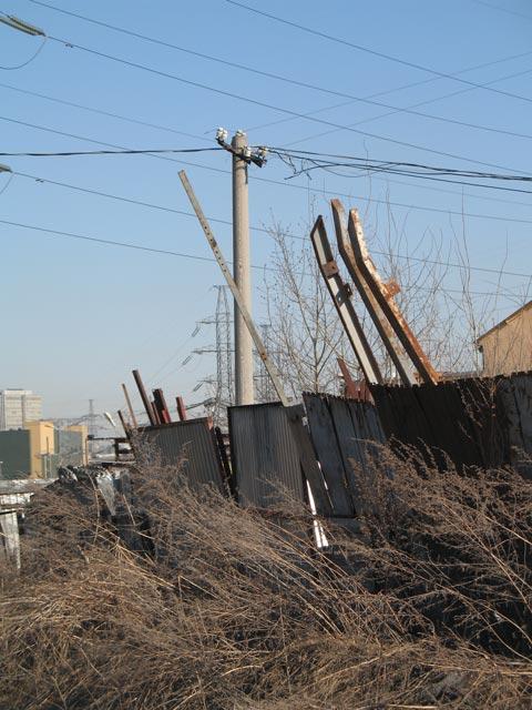 Уничтоженная вандалами линия МФ, соединяющая Выхино и Жулебино