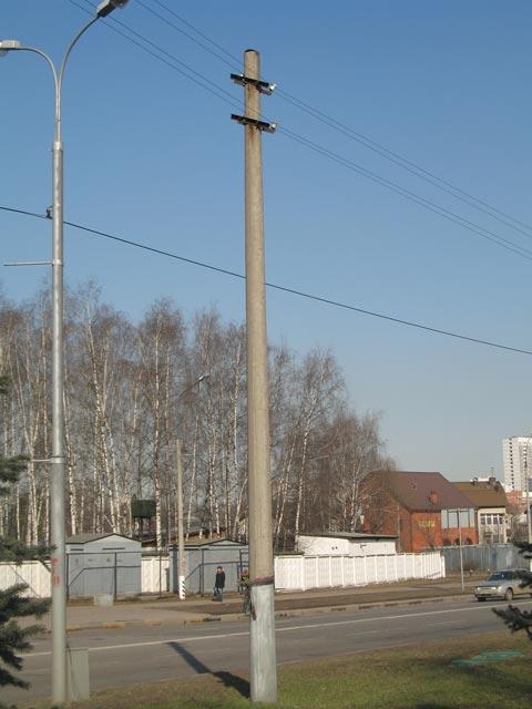Наземная опора МФ на Привольной улице