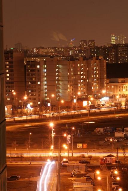 Вид на Жулебино, Выхино и Башню Саурона в Москве-сити