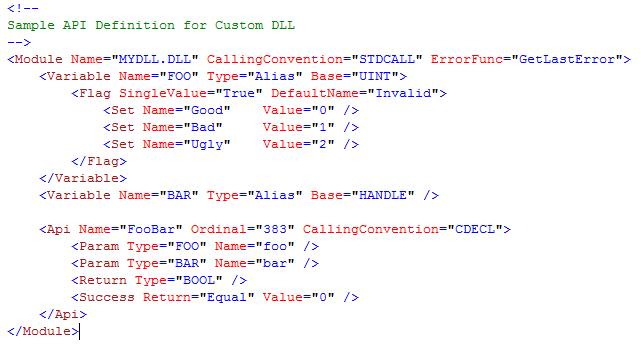 custom-dll-definition